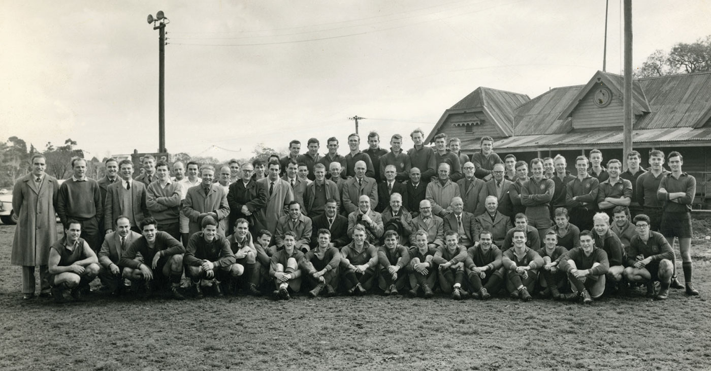 Old Scotch Collegians' Football Club at Yarra Park in 1959
